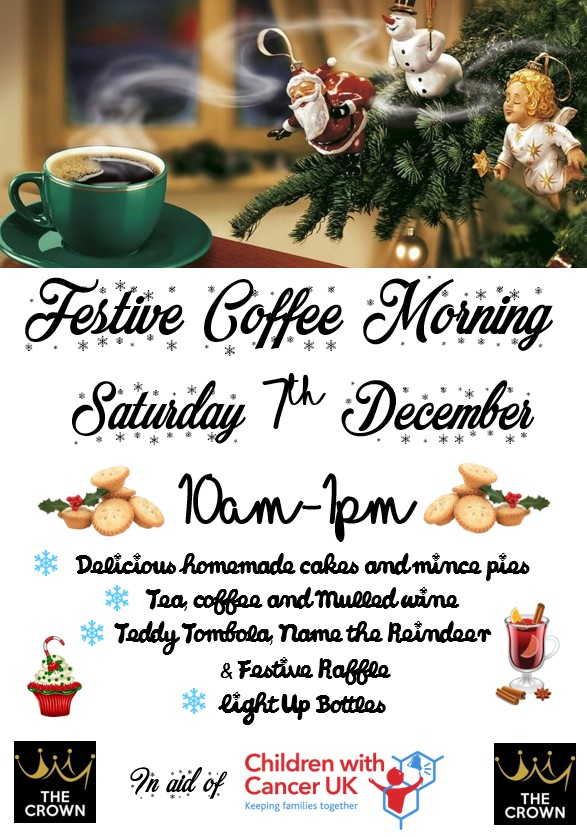 Festive Coffee Morning Poster 4218 1 The Crown Wormingford